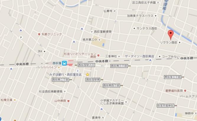 ハイツカンメイⅡ102地図