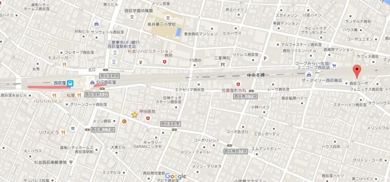 アミカル西荻101地図