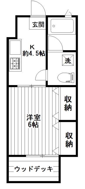 【間取り】フジハイツ103